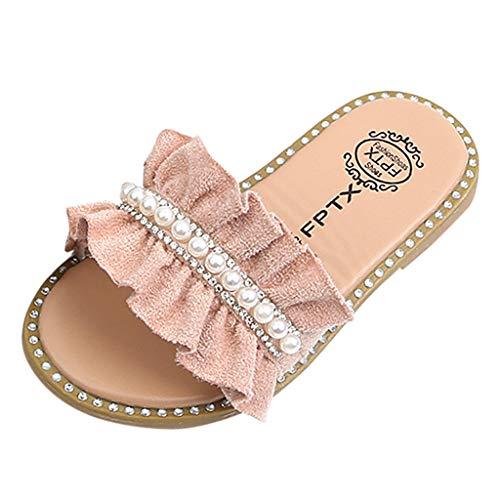 WEXCV Kinderschuhe Ohne Schnürsenkel Elegant Slippers Hausschuhe Sandalen Hallenschuhe Unisex Baby Jungen Mädchen Krabbelschuhe