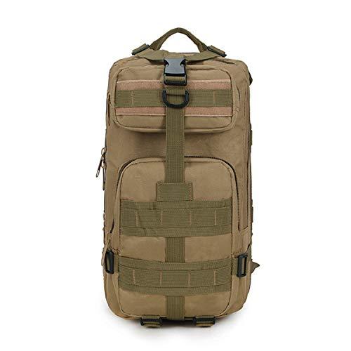 FANDARE Casual Militaire Sac à Dos Homme/Femme Outdoor Voyage Camping Randonnée Grande Capacité Rucksack Imperméable Nylon Khaki