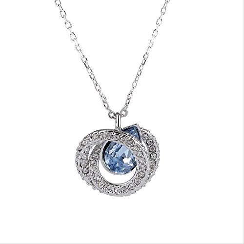 WYDSFWL Collar Plata Pura Cara Sonriente Collar Pequeño Fresco Luz Completa Diamante Sonrisa Clavícula Cadena Temperamento Cien Joyas de Plata Collar de Mujer Regalo
