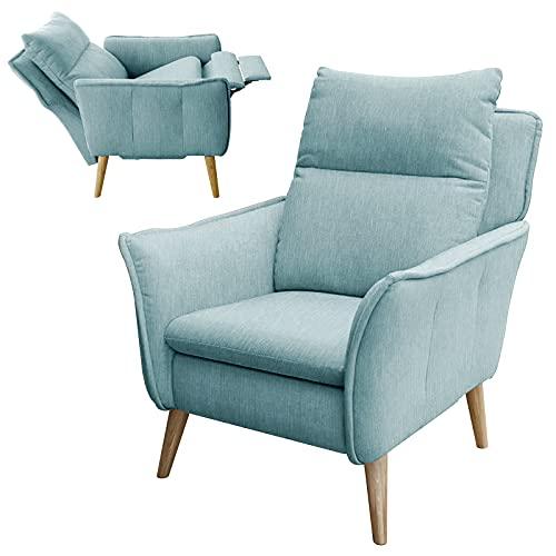 place to be. Relaxsessel mit Liegefunktion und Schlaffunktion Fernsehsessel TV-Sessel Wohnzimmer Salbei M18631 mit Fleckschutz Eiche massiv