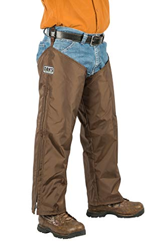 High-N-Dry Briarproof, and Waterproof Protector Chaps, Made in U.S.A. (Brown, L/28)