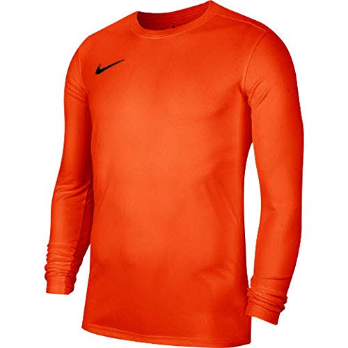 NIKE M Nk Dry Park VII JSY LS Long Sleeve Top, Hombre, Safety Orange/Black