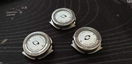 Recambio Cuchillas de 2 cuernos compatible con Philips afeitadora máquina de afeitar HQ7240 HQ7320 HQ7340 HQ7360 HQ7380 HQ7390 HQ6070,HQ6071, HQ7310, HQ7320, HQ7330, HQ7340, HQ7350