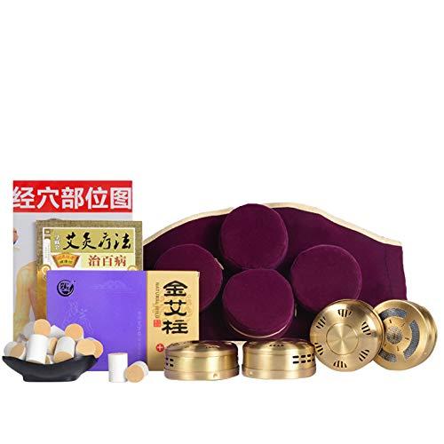 Ankle Waist Acupoint Pad Elastic Belt Moxibustion Therapy Moxa Box,Moxa Cone Moxibustion 60:1/55:1 (Package one)