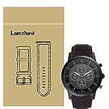 LvBu Armband Kompatibel mit Fossil Collider HR, Quick Release Leder Classic Ersatz Uhrenarmband für Fossil Hybrid Smartwatch HR Collider/Fossil Collider Hybrid Smartwatch (Coffee)