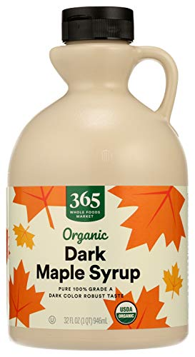 365 by Whole Foods Market, Organic Pure 100% Grade A Maple Syrup, Dark Color Robust Taste, 32 Fl Oz