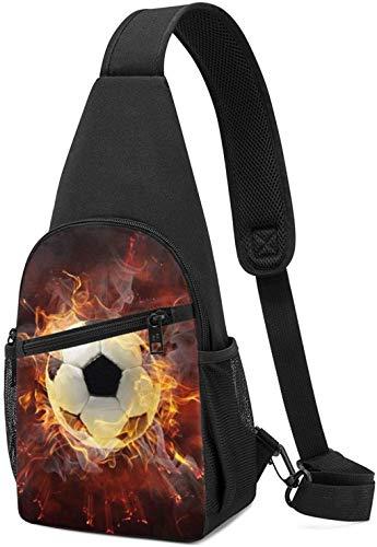 Nigel Tomm Sling Bag Fire Soccer Impreso Hombro Mochila Crossbody Monedero Viaje Senderismo Pecho Bolsa Mochila