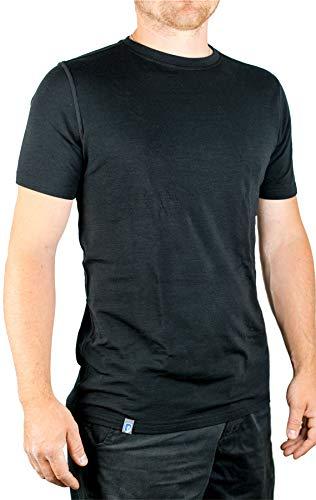 Alpin Loacker - Core Spun Merino T-Shirt für Herren (schwarz, L)