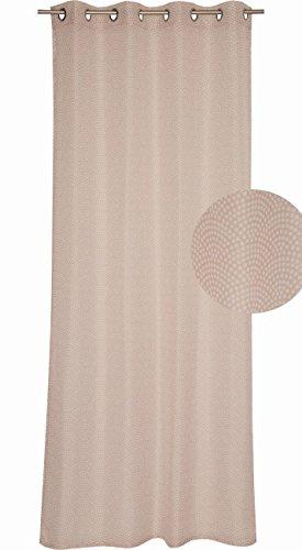 Esprit Home Vio Rideau à œillets, Tissu, Naturel, 250 x 140 cm
