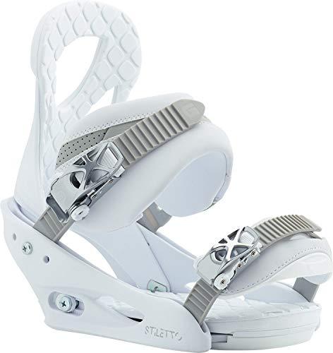 Burton Stiletto Snowboard Bindings Blanca Womens Sz M (6-8)