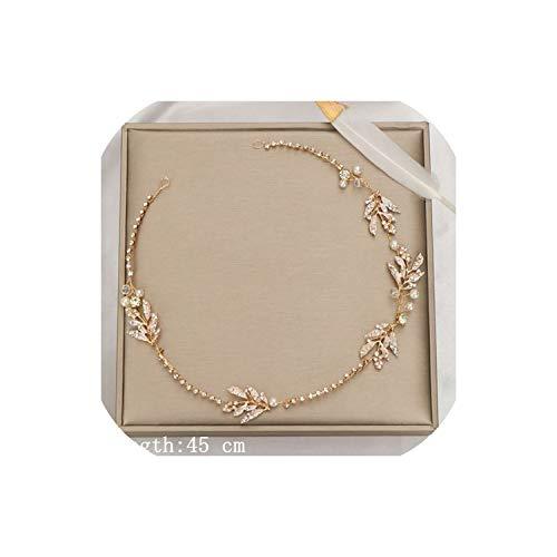 Perfect-Mood Wedding Hair AccessoriesDiadema de perlas para mujer, accesorio para el pelo, para novia, diseño de flores y niñas, Golden2, dorado2,