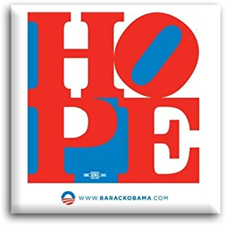 Official Barack Obama 2008 Campaign Pinback Hope Button by Gift Warehouse