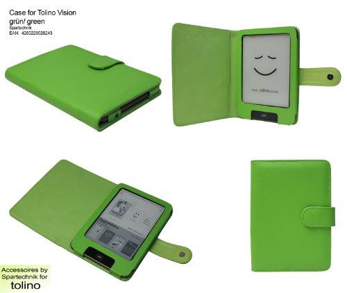 Spartechnik Tasche für Tolino Vision Vision 2 Vision 3 HD Vision 4 HD von Bertelsmann Weltbild Thalia Telekom Hugendubel - bestes Case für Tolino Vision E-Book Reader - grün/Green