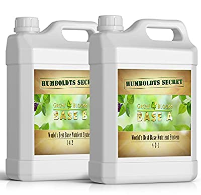 Humboldts Secret Base A & B Bundle – World's Best Base Nutrient System – Liquid Nutrient/Fertilizer for Indoor Plants – Supports Vegetative and Flowering Stages of Plants – Set of Quarts