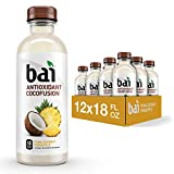 Bai Coconut Flavored Water, Puna Coconut Pineapple, Antioxidant Infused Drinks, 18 Fluid Ounce Bottles, 12...