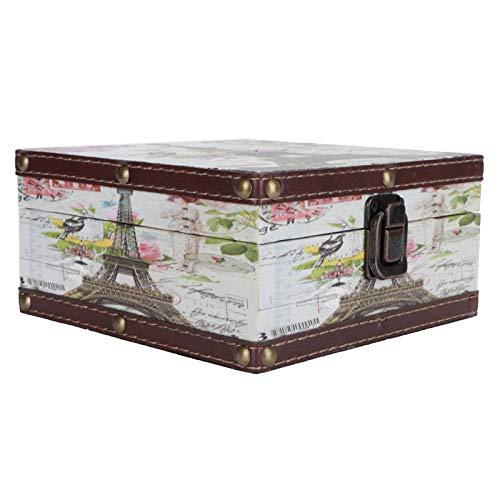 Aoutecen Joyero Caja de Almacenamiento Retro Resistente a los arañazos para decoración de Letras para cosméticos, Joyas para Fotos...