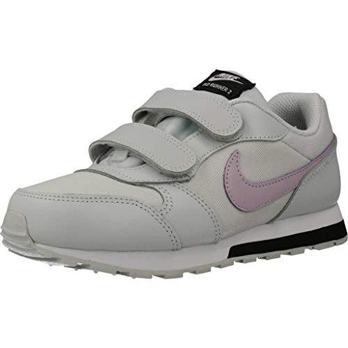 Nike MD Runner 2 (PSV) Sneaker, Photon Dust/Ice Lilac-Off Noir-White, 34 EU
