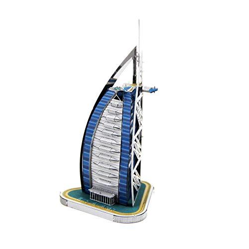 Puzzles Madera Maquetas para Construir Juguete De Madera Modelo De Rompecabezas 3D Kit De Montaje De Bricolaje Bambú Dubai Burj Al Arab Hotel Cumpleaños 1 Pieza