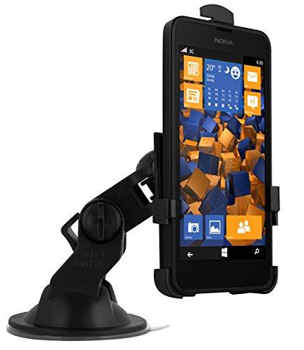 mumbi KFZ Halterung für Nokia Lumia 630/635 / Autohalterung VibrationsFREI / 90° QUERBetrieb möglich