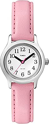 Timex Girls T79081 My First Easy Reader Pink Faux Leather Strap Watch by Timex