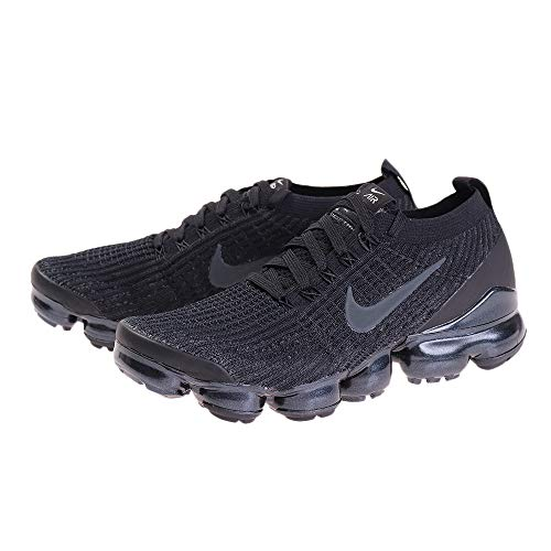 Price comparison product image Nike Men's Air Vapormax Flyknit 3 Running Shoes (10,  Black / Anthracite / White / Metallic Silver)