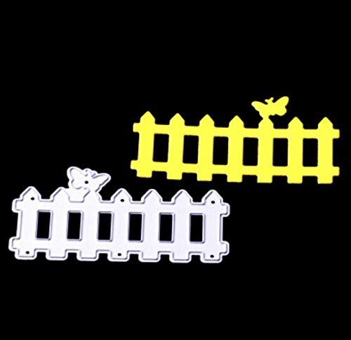 RKZM omheining cutter De DIY papier in reliëf etching carbon steel cutters De metalen vormen voor de kaart 7,7 x 4,3 cm