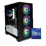 Pc gaming Core i5 10400F,Gtx 1660Ti 6Gb,Ram 16Gb 3000MHz,SSD 256GB+ HDD 1TB,Windows 10 PRO,Pc fisso 1660 Assemblato