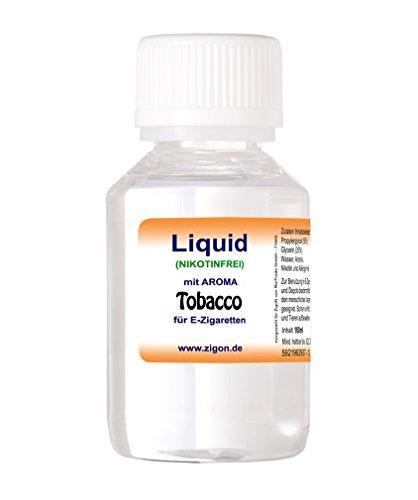 100 ml TOBACCO ZigoN E-Liquid - MADE IN GERMANY - mit Nikotin 0,0mg - TOBACCO