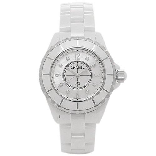 (シャネル) CHANEL シャネル 時計 CHANEL H2422 J12 ジェイトゥエルヴ 33mm Qu 8Pダイヤ MOP レディース腕時計ウォッチ ホワイト [並行輸入品]