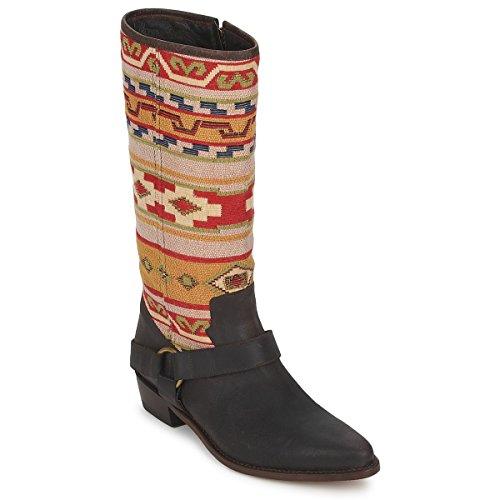 SANCHO BOOTS CROSTA TIBUR GAVA Laarzen dames Bruin - rood Hoge laarzen