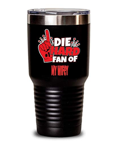 Fun & Awesome Tumbler for My Wifey Lover -Die Hard Fan of My Wifey Gift Portable & Handy for Home Use Travel Outdoor or as Gift to Tea & Coffee Connoisseur