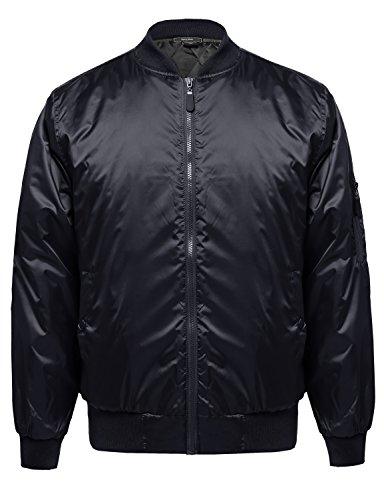 Classic Style Cotton Based Zip Up Bomber Jacket Navy XL