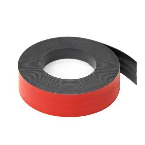 first4magnets F4MF25R-1-25mm de ancho x 0,76 mm de espesor de cinta magntéica grillado - rojo