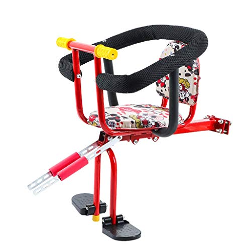 Find Discount Alqn Child Bicycle Seat Bike Front Seat Kids Saddle with Foot Pedals and Fully Enclose...