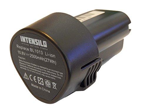 INTENSILO Li-Ion batería 2500mAh para herramienta eléctrica Makita TW100DWE, TW100DZ, UH200 por 194550-6, BL101.