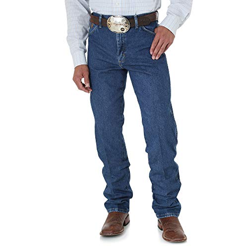 Wrangler Men's George Strait Cowboy Cut Original Fit Jean, Heavyweight Stone Denim, 33W x 34L