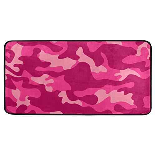 Bardic anti-slip deurmat Camo Camouflage Patroon Print Deurmat Machine Wasbare Slaapkamer Mat Voor Woon-Dineren Kamer Slaapkamer Keuken,50.8x99cm