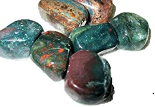 Jet International Wow Bloodstone Tumbled Stone 100 grams Greenish Red Color Approx. 0.75