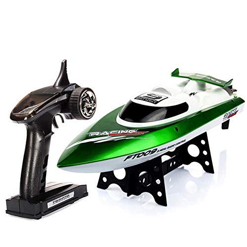 RC Boat Remote Control Boat for Poolslakes Water Speed Toy Radio Controlled Boats 2.4Ghz 30KM/H High Speed 100-150 Meters Remote Control Distance Gift for Adults Kids,Green