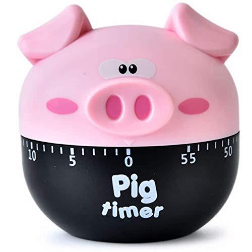 Temporizador de Cocina de Cerdo, Temporizador Mecánico de Cocina, Temporizador Manual, Ajustable Hasta 55 Minutos, para Ejercicios de Yoga, Aprendizaje, Hornear, Cocinar Al Vapor