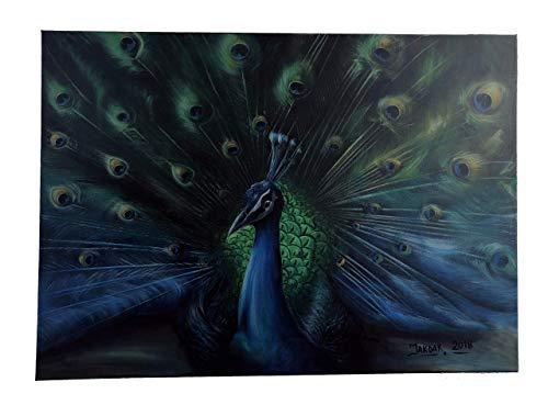 Gemälde - Pfau (Peacock painting) im Original