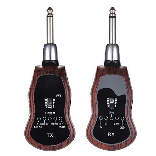 Effektpedal Wiederaufladbare UHF Funksystem Sender + Empfänger 10 Kanäle Musikinstrumente & DJ-Equipment ( Color : 1 )