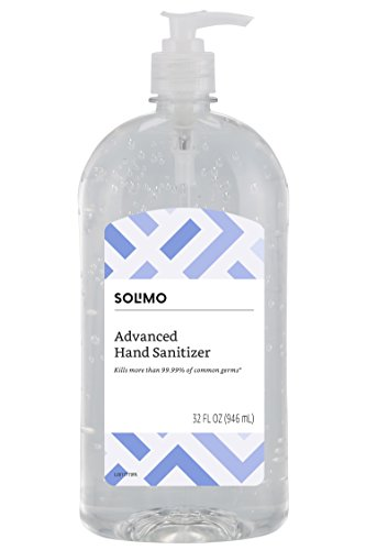 Amazon Brand - Solimo Hand Sanitizer with Vitamin E, 32 Fl Oz (Pack of 1)