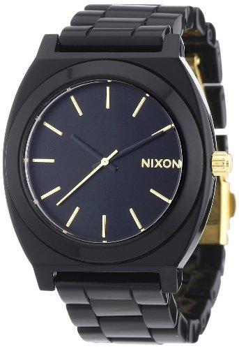 Nixon A327-031 A3271031-00 - Reloj analógico de Cuarzo para Mujer, Correa de plástico Color Negro