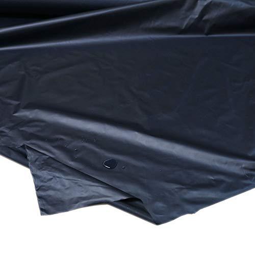 TOLKO Outdoor-Stoff Wasserdicht | Leichter NylonStoff als Meterware | für Regenjacke Plane Regenschutz (Dunkel-Blau)