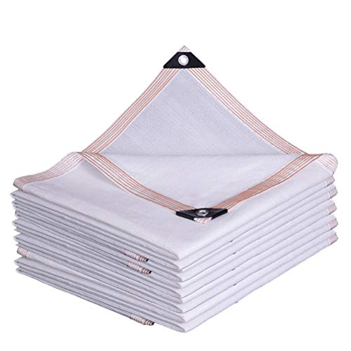 Telas para toldos Paño Blanco De La Sombra - Sombra Al Aire Libre Sna-Terraza Pantalla De Privacidad - Aeropuerto De Jardín Auto Show Twning - Fácil De Instalar con Orommet (Size : 6X6M)