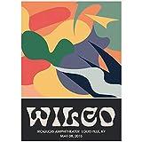 MXIBUN Wilco Gig Poster Klassische Wandkunst Vintage Bunte
