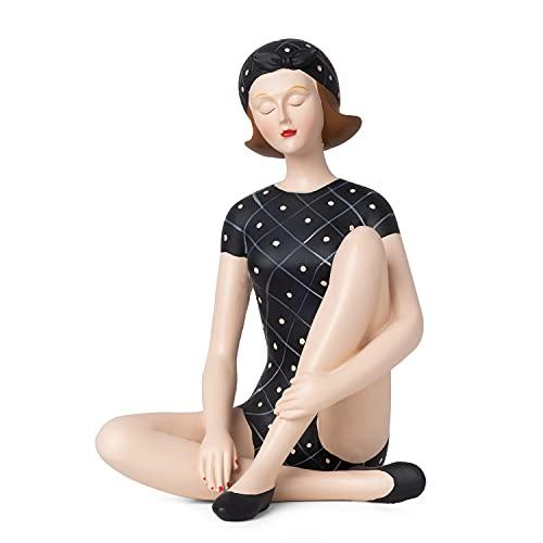 Moritz Dekofigur Badenixe Frau mit Badeanzug Pin Up Girl Shabby Chic AntikBadefrau Baddekoration