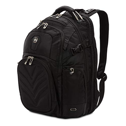 SwissGear 5709 ScanSmart Laptop Backpack   Fits Most 15 Inch Laptops and Tablets   TSA Friendly Backpack   Ideal for Work, Travel, School, College, School, and Commuting- Black