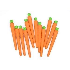HARIKRUPEX Imported Stuff Cutest Long Carrot Shape Pencil Erasersa Birthday Day Return Gift Party Idea for Kids Birthday (06 PCS./lot)